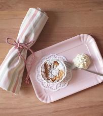 """Vassoio rosa piccolo """"Chic & Pastel"""" Baci Milano"""